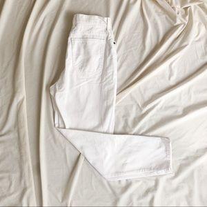LL Bean Vintage White Denim Jeans